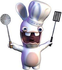 Un lapin crétin en chef cuisinier